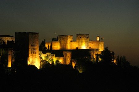 View of the Alhambra in Granada