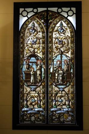 vetrate colorate: CARMEN'S INTERIOR vetrate dei martiri di GRANADA Archivio Fotografico