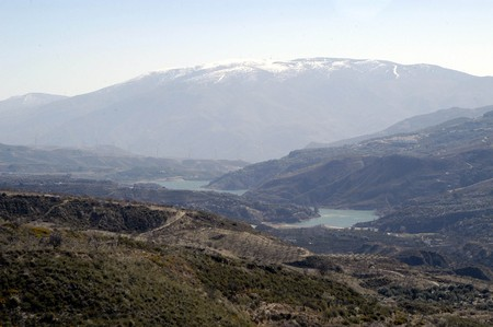 hydrology: Beznar reservoir in the province of Granada (Spain)
