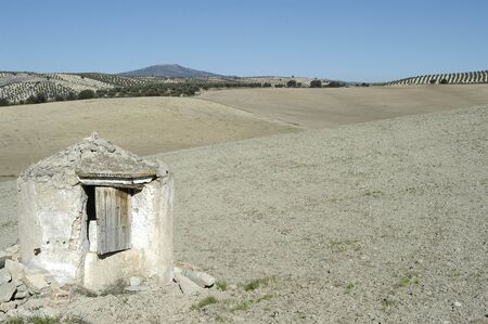 groundwater: Dry field in the region of Montes de Granada East Stock Photo