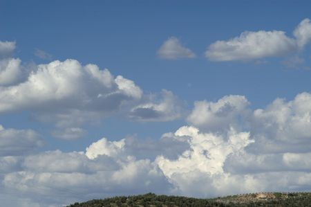 climatology: Background of blue sky with white clouds