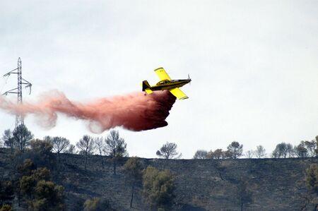 forest fire: Hidroaviones participan en la extinci�n de un incendio forestal