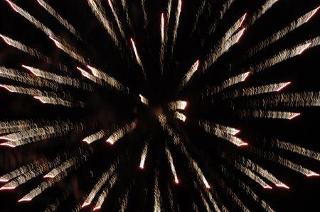 trickery: Spectacular fireworks Stock Photo