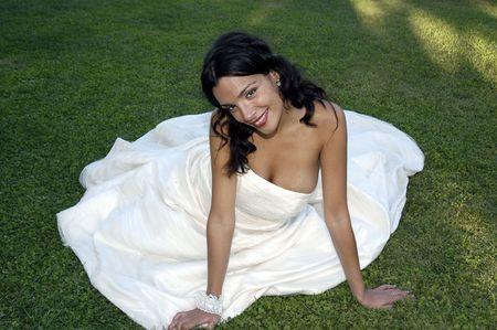 Novia el día de su boda Foto de archivo