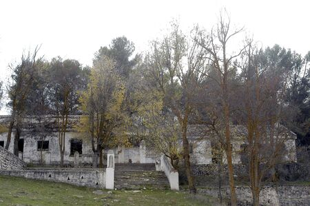 Padul abandoned military camp in the province of Granada photo