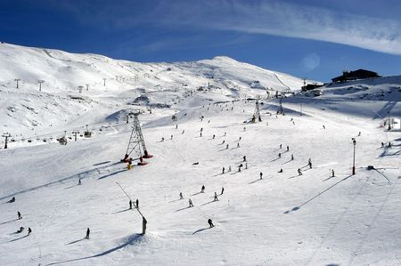 sierra: View of Sierra Nevada Stock Photo