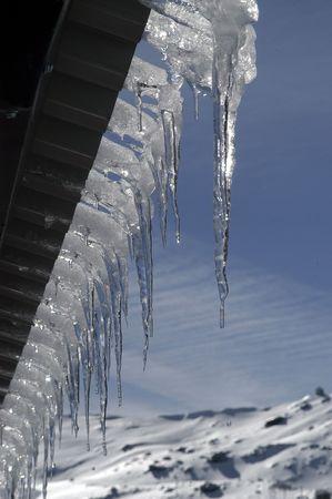 station ski: View of Sierra Nevada Stock Photo