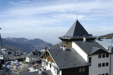 Pradollano roofs and buildings in the ski resort of Sierra Nevada photo