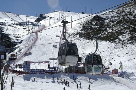 Gondolas in the ski resort of Sierra Nevada photo