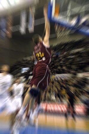 Partido de baloncesto de la Liga ACB en Granada  Foto de archivo
