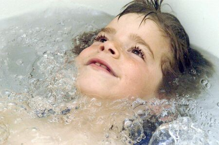 bath salts: Child in bathtub