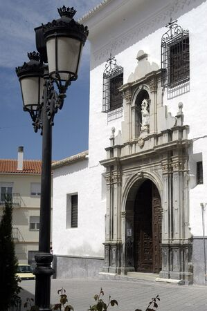 crucifixes: Church of the Merced de Baza in the province of Granada
