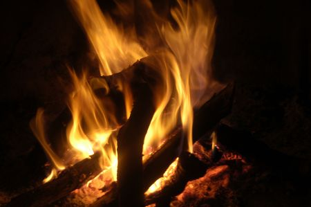 Texture and depth of fire with fire