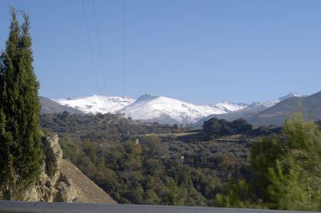 sierra: View of Sierra Nevada from the Sierra Highway G�ejar