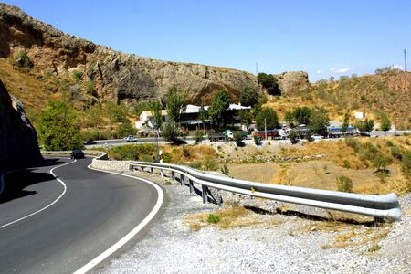 resurfacing: Sierra Nevada road in the province of Granada