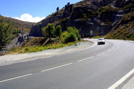 sierra: Sierra Nevada road in the province of Granada