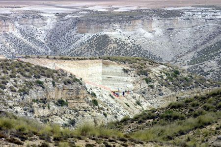 stratigraphy: Orce archaeological excavation in the province of Granada