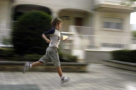 10 to 12 years: Children running