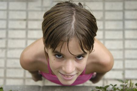 tweens: adolescent girl Stock Photo