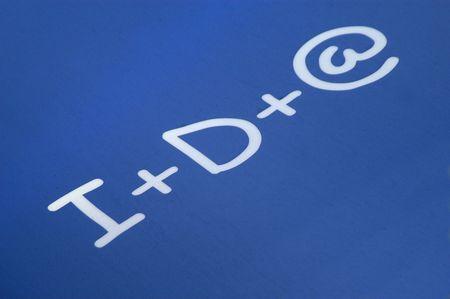 Research Symbols over more Internet development Reklamní fotografie - 6287445