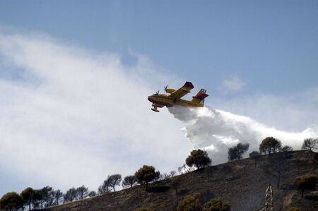 suppression: Forest Fire Suppression Stock Photo
