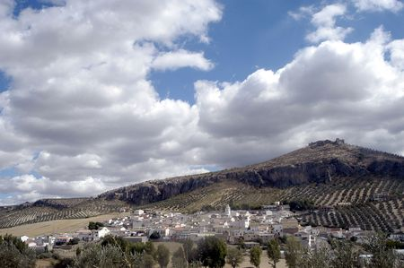 ar: View of the town of Pi�ar in the province of Granada Stock Photo