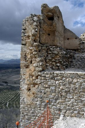 reconstructing: Restoration of the medieval Arab castle in the town of Pi�ar in the province of Granada