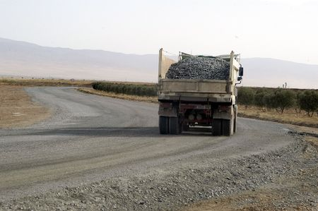 camion volteo: Carretera de Sandy