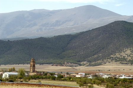 View of the town of Cogollos of Guadix, Granada Province photo