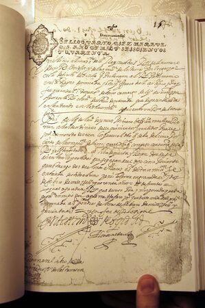 seventeenth: Official document of the seventeenth century on cattle trails