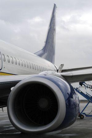 turbofan: Aircraft at an airport