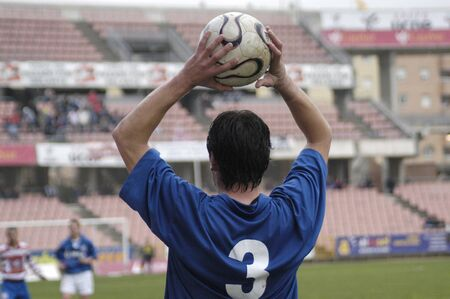 Player making the throw photo