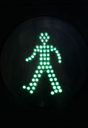 pedestrian green light photo