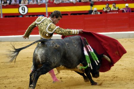 coping: The bullfighter Juan Bautista in the bullfight held in Granada on 3 June 2007, at Feria de Corpus Editorial