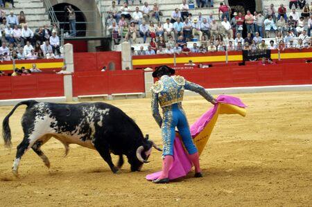 bull rings: The bullfighter L�pez Chaves in the bullfight held in Granada on 3 June 2007, at Feria de Corpus Editorial