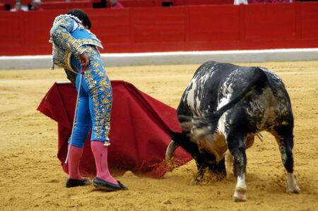 coping: The bullfighter L�pez Chaves in the bullfight held in Granada on 3 June 2007, at Feria de Corpus Editorial