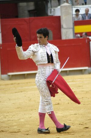bull rings: The bullfighter Miguel Abellan in the bullfight held in Granada on 3 June 2007, at Feria de Corpus