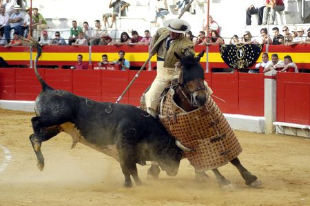 matadors: Chopper bullfight held in Granada on 3 June 2007, at Feria de Corpus