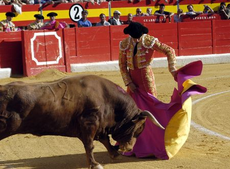 bullfighters: The bullfighter Juli�n L�pez, El Juli in the bullfight held in Granada on 6 June 2007, at Feria de Corpus