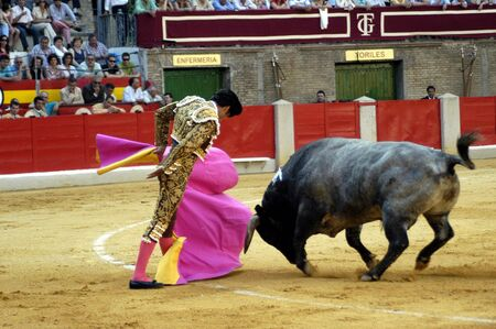 The bullfighter Matias Tejela in the bullfight held in Granada on 7 June 2007, at Feria de Corpus Stock Photo - 6891132