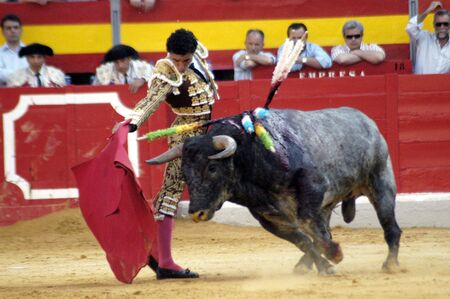 matadors: The bullfighter Matias Tejela in the bullfight held in Granada on 7 June 2007, at Feria de Corpus Editorial