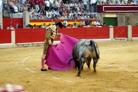 coping: The bullfighter Matias Tejela in the bullfight held in Granada on 7 June 2007, at Feria de Corpus Editorial