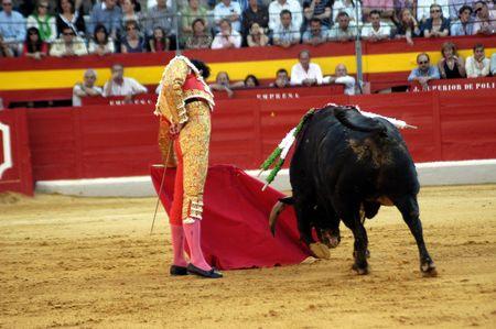 The bullfighter Manuel Jesus el Cid in the bullfight held in Granada on 7 June 2007, at Feria de Corpus Stock Photo - 6891154