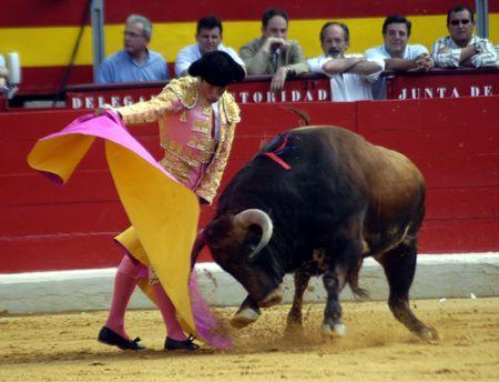 "The bullfighter Manuel Diaz, ""El Cordobes"" in the bullfight held in Granada on 7 June 2007, at Feria de Corpus"