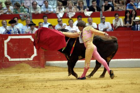matadors: The bullfighter Manuel Diaz, El Cordobes in the bullfight held in Granada on 7 June 2007, at Feria de Corpus Editorial