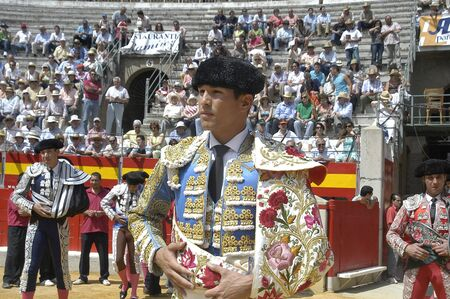 matadors: The bullfighter Jose Maria Manzanares in the bullfight held in Granada on 6 June 2007, at Feria de Corpus Editorial