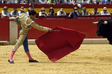 bull rings: The bullfighter Jose Maria Manzanares in the bullfight held in Granada on 6 June 2007, at Feria de Corpus Editorial