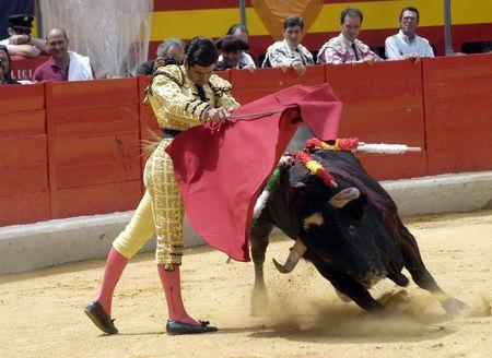 coping: The bullfighter Morante de la Puebla in the bullfight held in Granada on 7 June 2007, at Feria de Corpus