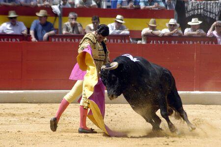 capes: The bullfighter Morante de la Puebla in the bullfight held in Granada on 7 June 2007, at Feria de Corpus