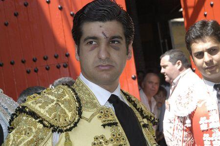 matadors: the bullfighter morante de la puebla in the bullfight held in granada on 7 june 2007, at feria de corpus